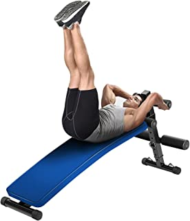 Homgrace Adjustable Ab Sit Up Bench, Decline Bench Curved Sit Up Board Workout Incline AB Bench Crunch Board