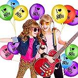 Gejoy 24 Stück Ich Liebe 80 Jahre Luftballons Sortiert Farbe Latex 80 Jahre Luftballons für 1980er Jahre Retro Themen Dekorationen Geburtstag Party - 7