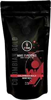 Dark roast - Ground 5 Pound - Colombian bold - 2xtreme gourmet coffee - FRESH RESEALABLE BAG