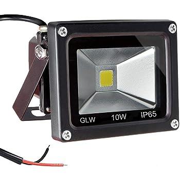Amazon Com Glw 10w 12v Ac Or Dc Warm White Led Flood Light Waterproof Outdoor Lights 750lm 80w Halogen Bulb Equivalent Black Case Garden Outdoor