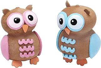 2 Pcs Mixed Color Automotive Cute Owl Antenna Ball Car Aerial Ball Antenna Topper Decor Ball Decorative Topper Balls