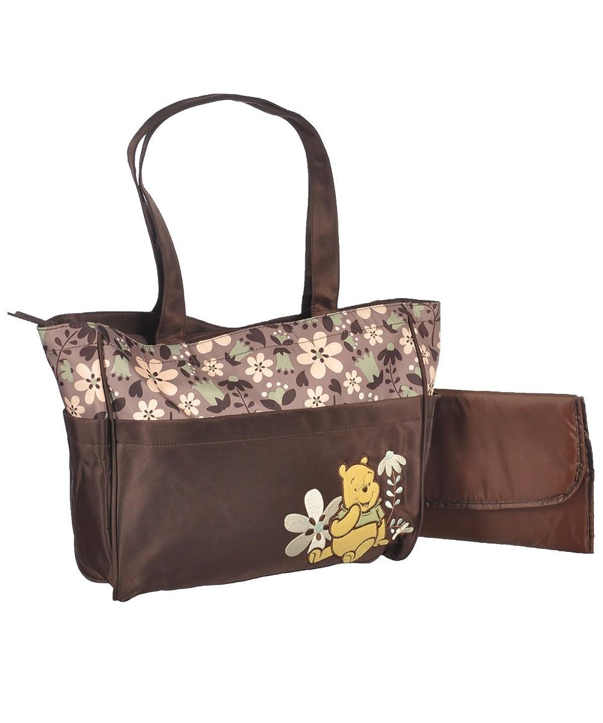 事業内容貢献する多くの危険がある状況Winnie the Pooh Friendly Flowers Large Diaper Bag - brown, one size by Disney