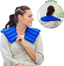 My Heating Pad Neck Warmer Microwavable   Heated Neck Wrap for Natural Neck and Shoulder Pain Relief   Aromatherapy Neck Heating Pad   Relax and Relief Stress and Tension- Lavender Scent (Blue)