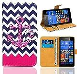 Microsoft Lumia 535 Handy Tasche, FoneExpert® Wallet Hülle Flip Cover Hüllen Etui Ledertasche Lederhülle Premium Schutzhülle für Microsoft Lumia 535 (Pattern 11)