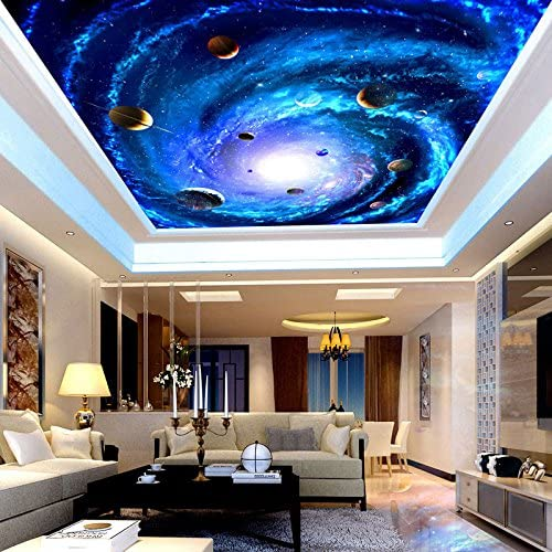 Free shipping Mznm Ceiling Wall Papers 3D Living Star Space Photo Arlington Mall Room Bedroom