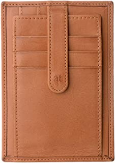 Antica Toscana Credit Card Holder Wallet for Men in Real Italian Leather ID Slim Card Case Honey