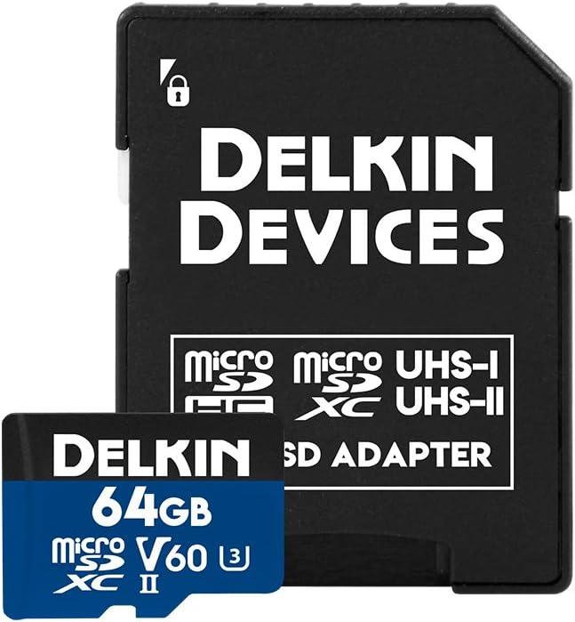 Delkin Devices 64GB Prime microSDXC UHS-II (V60) Memory Card (DDMSDB190064)