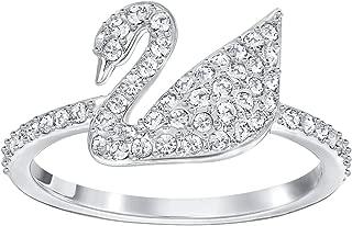 Iconic SWAN Ring, White, Rhodium Plating 5215040