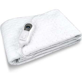 Medisana HU 665 Sous-couverture électrique, 150 x 80 cm, arrêt automatique, protection contre la surchauffe, 3 réglages de température, lavable, chauffe-matelas adapté à tous les matelas standard