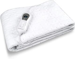 Medisana HU 665 Calienta Camas Eléctrico con 3 Ajustes de Temperatura, Blanco Nieve, 150 x 80 cm