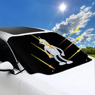 Teenagerghlovexc Futurama Bender Windshield Sun Shade Foldable Sunshade Windshield Sunshade Heat Reflector 58X47inch