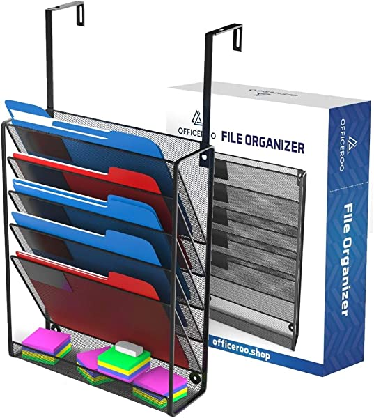 Hanging Organizer Cubicle File Holder Wall Mount Office Cubical Partition Folder Storage