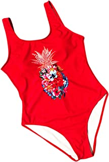 Boutique Swimsuit, 2019 Women Pineapple Printing Push-Up Padded Bra Beach Bikini One Piece Sexy Swimwear