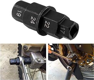 CYSKY Motorfietsen Hex Axle Tool Hex Voorwiel Hub Axle Spindel Socket Adapter Tool 17mm, 19mm, 22mm, 24mm voor Motorfiets ...