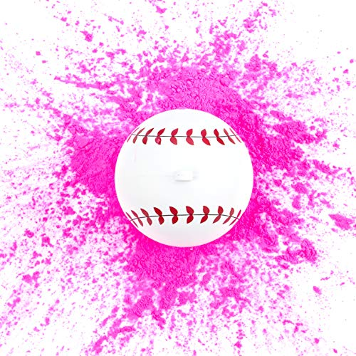Ultimate Party Supplies Gender Reveal Baseball | Pink Exploding Powder Baseball | Gender Reveal Party Ideas
