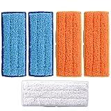 keepow kit de 5 paños lavables para irobot braava jet 240 241 de material premium, nuestro pack especial incluye 2 mopas de fregado húmedo + 2 mojado + 1 seco