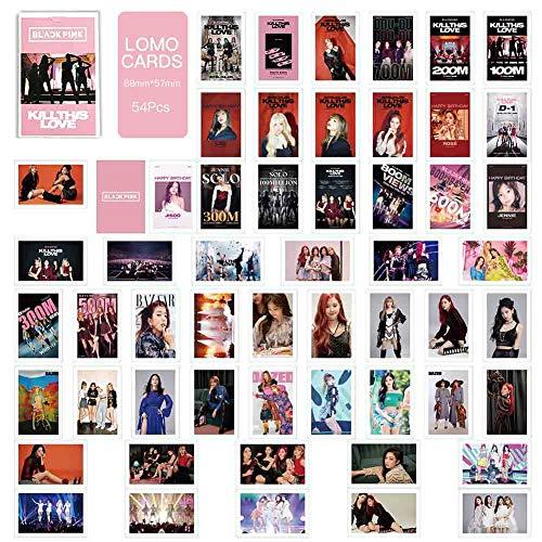 Mini Office Depot 54Pcs BLACKPINK Album LOMO Karten Fotokartenset Fashion Self Made Paper Fotokarte HD Photocard