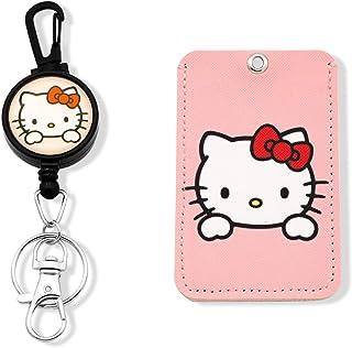 Porte-badge rétractable Hello Kitty avec enrouleur pour badge d'identification (Hello Kitty)