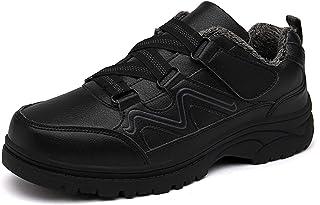 YEARGER Chaussures En Coton Warmth Automne Et L'hiver Des Hommes Et Velours Chaussures De Marche Hommes Cuir Imperméable C...