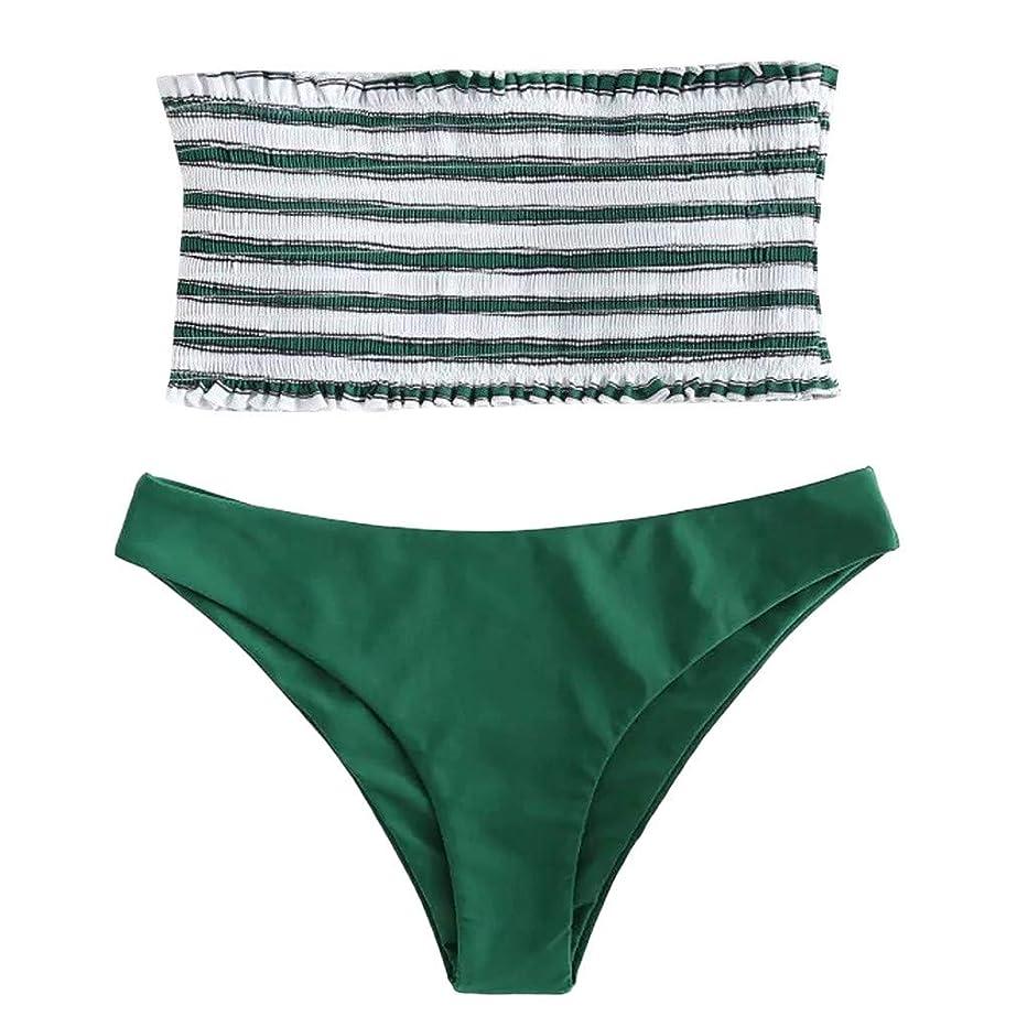 Neferlife Summer Sexy Solid Fashion Swimsuit 2PC Women Sexy Swimwear Bikini Suit Stripe Push-Up Padded Bathing Beachwear