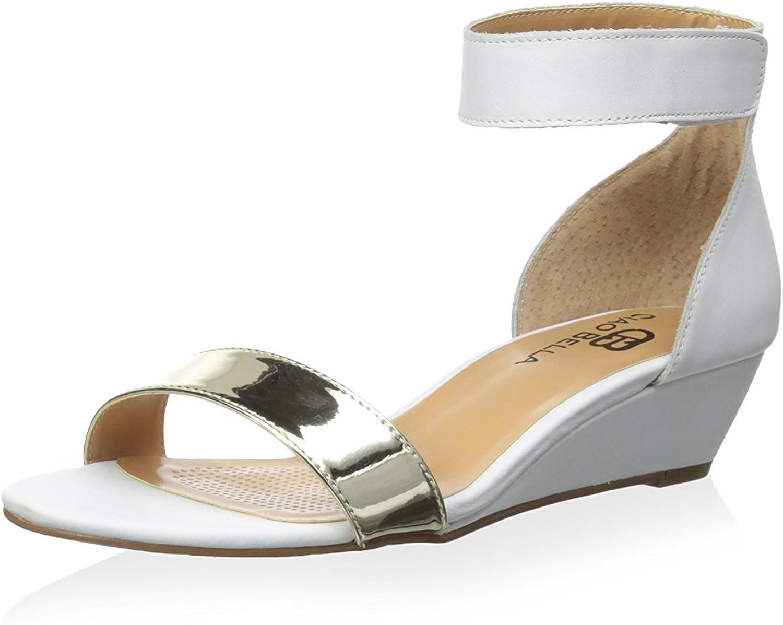 Ciao Bella Women's Wilson Wedge Sandal White