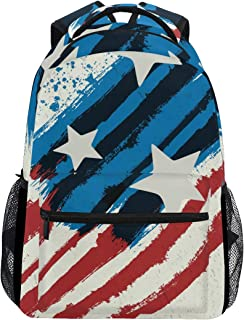 ALAZA Abstract Grunge American Flag Star Large Backpack Personalized Laptop iPad Tablet Travel School Bag with Multiple Pockets