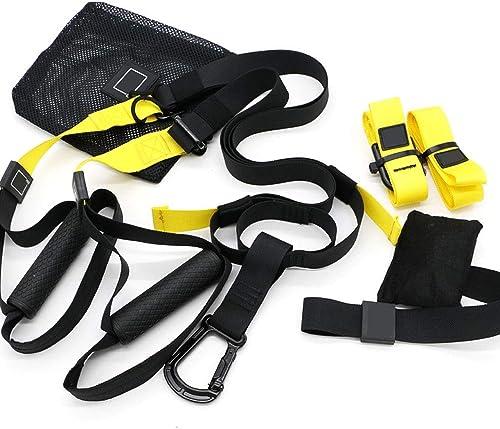 ZSLLO Système d'entraînement  fournit des séances d'entraînement complètes du corps pour votre salle de sport à la maison, vos voyages et vos activités en plein air, y compris les ancres intérieures e