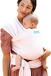 Moby Classic Baby Wrap for Parents On The Go | Ideal for Baby Wearing & Breastfeeding | Rose Quartz | Compatible for Newborns, Infants, and Toddlers