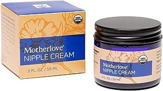 Motherlove Nipple Cream (2oz) Organic Lanolin-Free Herbal Salve For Breastfeeding—Soothe Nursing Nipples & Use as a Pump L...