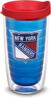 Tervis 1087457 NHL New York Rangers Primary Logo Tumbler with Emblem and Red Lid 16oz, Blue
