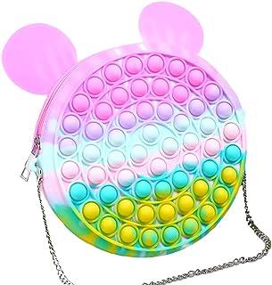 Bagima Push Pop Zappget Tasche Push Blase Umhängetasche, Regenbogen Crossbody Tasche Stress Relief Push Blase Zappeln Sinn...