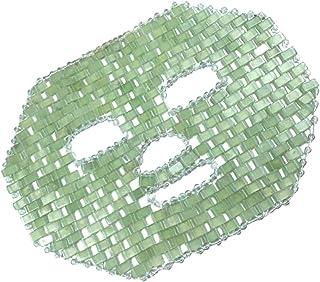 FRCOLOR Jade Gezichtsmasker Natuurlijke Jade Steen Anti-Aging Gezichtsslaap Oogmasker Schoonheid Huidverzorging Massage To...
