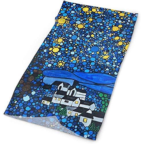 Gogh Starry Night Hoofddeksels Multifunctionele Bandana Facemask Naadloze Sjaal Mufflers Outdoor Hoofdband 19.7x9.85inch