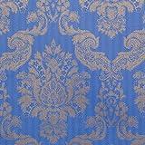 Romosa Wallcoverings 1245318 Louis Damask Wallpaper, Blue/Gold