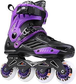 Inline Skates Professional Slalom Adult Roller Skating Shoes Sliding Free Skate Patins Size 36-44Good As Sneakers,Purple,38
