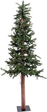 Vickerman 5' Unlit Alpine Artificial Christmas Tree with Cones and Vines