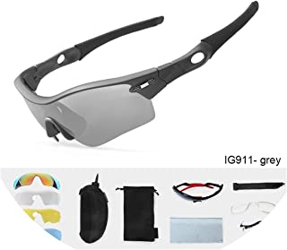 Polarized Outdoor Sport Sunglasses Bicycle Glasses MTB Bike Driving Cycling Eyewear 5 Lens Goggles