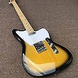 chushi Guitarra Eléctrica Jazz Electric Guitar Cuerpo De Guitarra Y Cuello De Guitarra Cuerda De Acero Acústico Guitarras Zzib (Color : Guitar, Size : 41 Inches)