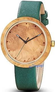 Men's Wood Watches Leather Quartz Wooden Watch Waterproof Minimalist Watch Women Valentine's Day Gifts