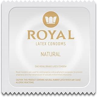 Royal Condoms - Ultra Thin, All Natural, Organic, Gluten Free, Nitrosamine Free, BPA Free, Cruelty Free, Vegan, Latex Covered in Odor Free Water Based Premium Lube, Bulk 100 Count