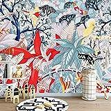 4D Tapeten Wandbilder,Modern Creative Pop Art Abstrakte Farbenfrohe Pflanzen Blumen Kunstdruck Großformatige Poster An Der Wand Dekor Für Wohnzimmer Sofa Tv Hintergrund Wand Schlafzimmer Flur, 100