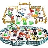 BESTZY Modelos De Animales 82Pcs Animales De la Selva Juguetes para nios Aprendizaje Playset Educativo Favores de Fiesta Regalos