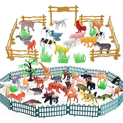BESTZY Giocattolo Modello Animale 82 Animali della Giungla per Bambini Imparare Playset educativo Bomboniere Riempitrici per Borse Regali per Ragazzi e Ragazze