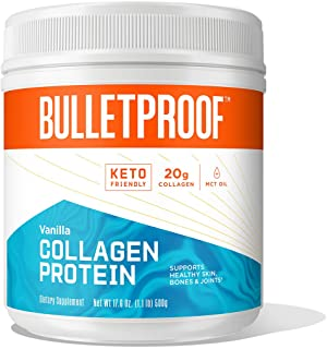 Best Bulletproof Collagen Protein Powder with XCT MCT Oil, Vanilla, 17.6 Oz, Collagen Peptides and Amino Acids for Healthy Skin, Bones and Joints, Keto Friendly, 20g Protein Review