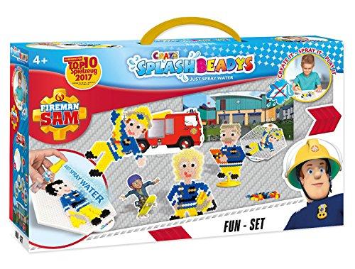 Craze 12222 - Feuerwehrmann, Sam Splash Beadys, Bügelperlen ohne Bügeln nur mit Wasser