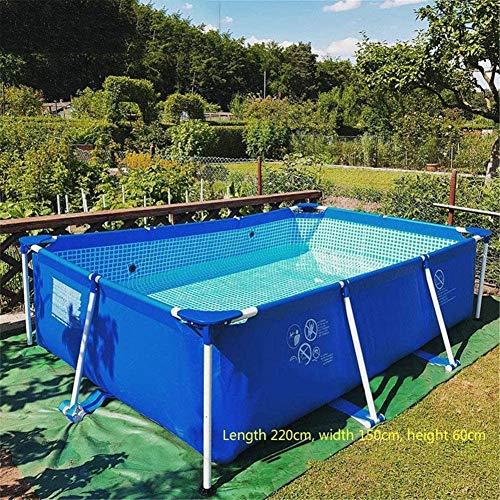 """Rahmen Stahlrohr rechteckigen Platz Pool Pfeifenständer Teich Große Bracket Above Ground Sommer Spielen Pool 87 """"X59 X24"""