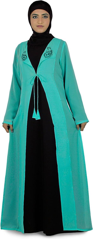MyBatua Women's Islamic Clothing Omera Two Piece Abaya