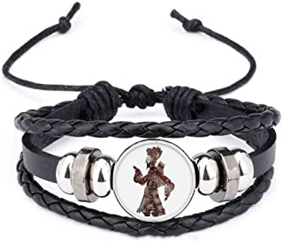 Traditional Shadow Play Man Walk Bracelet Braided Leather Woven Rope Wristband