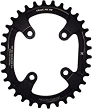 Leonardi Factory Oval Track BCD 76 - Plato de Bicicleta, Color Negro