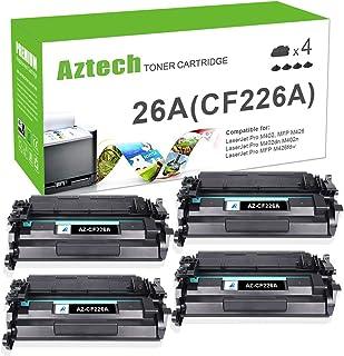 Aztech Compatible Toner Cartridge Replacement for HP 26A CF226A Laserjet Pro M402n M402dw M402dn Laserjet Pro MFP M426fdw M426fdn M426dw (Black, 4-Pack)